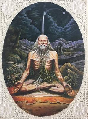 Sadhu Painting - Sadhu Portrait  by Ankit Mehta