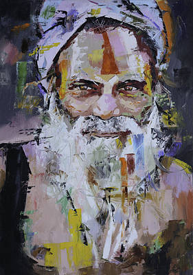 Bright Colours Painting - Sadhu by Richard Day