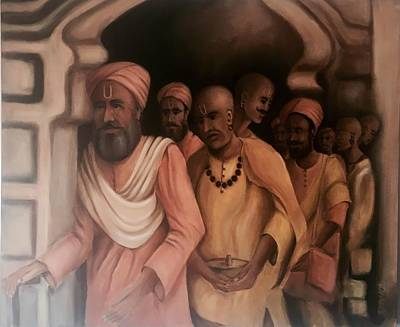 Sadhu Painting - Sadhus Varanasi India  by Sukhpal Grewal
