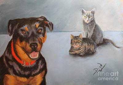 Painting - Sadie And Friends by Dian Paura-Chellis