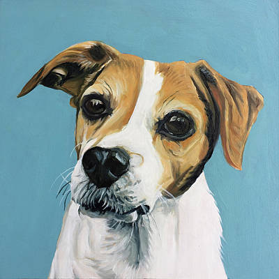 Blue Dog Painting - Sadie by Nathan Rhoads