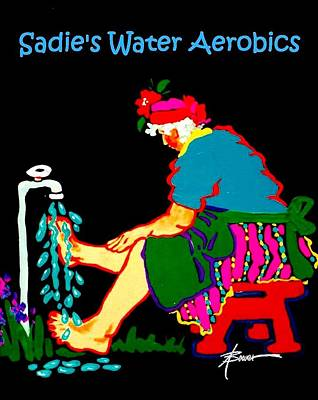 Painting - Sadie's Water Aerobics  by Adele Bower