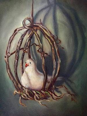 Cage Painting - The Dove by Randy Burns