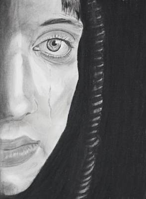 Drawing - Sadness by Cathy Jourdan