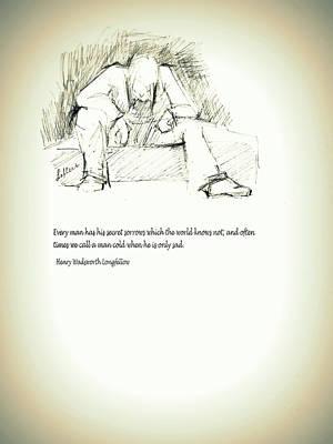 Drawing - Sadness by Susan Lafleur