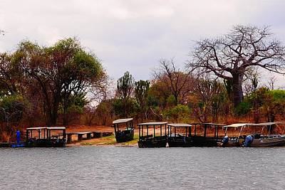 Photograph - Safari Boats In Malawi 01 by Dora Hathazi Mendes