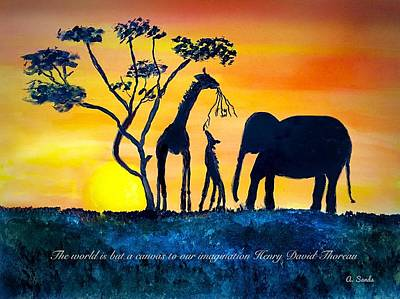 Painting - Safari Imagined by Anne Sands