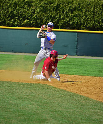 Photograph - Safe At Second by Mike Martin