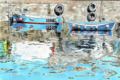 Painting - Safe Behind The Sea Wall by LeAnne Sowa