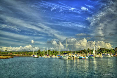 Photograph - Safe Harbor Haleiwa Small Boat Harbor Hawaii Collection Art by Reid Callaway