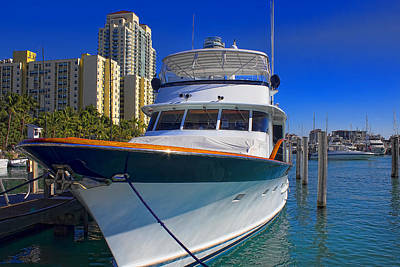 Photograph - Yacht - Safe Harbor Series 39 by Carlos Diaz