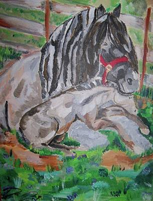 Horse Painting - Safe Haven by Danielle Dutil