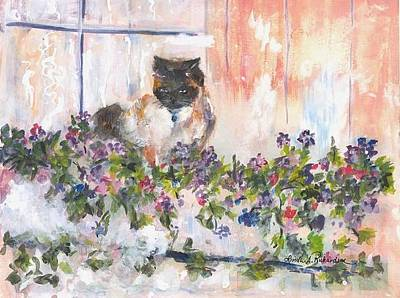 Painting - Safe In My Flowerbox by Linda Richardson