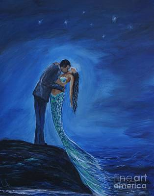 Painting - Safe In Your Arms by Leslie Allen