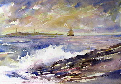 Painting - Safe Passage - Thacher  Island by Carl Whitten
