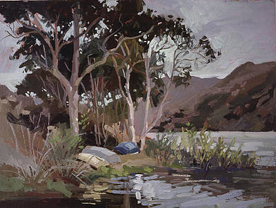 Betty Billups Painting - Safe Shelter  - Plein Air - Catalina Island by Betty Jean Billups