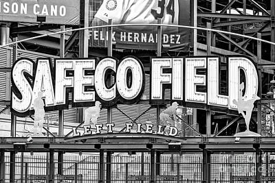 Photograph - Safeco Field Bw by Jerry Fornarotto