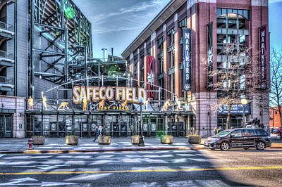 Baseball Royalty-Free and Rights-Managed Images - Safeco Field Entrance by Spencer McDonald