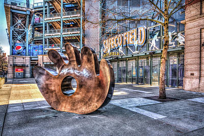 Baseball Royalty-Free and Rights-Managed Images - Safeco Field Glove by Spencer McDonald