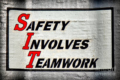 Safety Involves Teamwork Print by Olivier Le Queinec