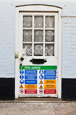 Safety Sign Art Print by Tom Gowanlock