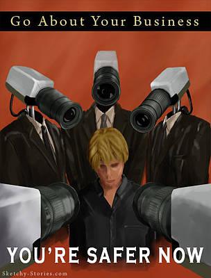 Wwii Propaganda Digital Art - Safety Through Security by Nicholas Damario
