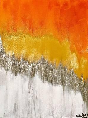 Painting - Saffron Sunrise by Alisha Anglin