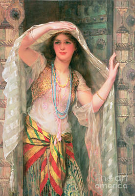 Necklace Painting - Safie by William Clark Wontner