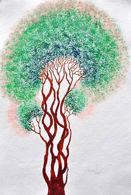 Roots Painting - Safpar Vriksh by Sumit Mehndiratta