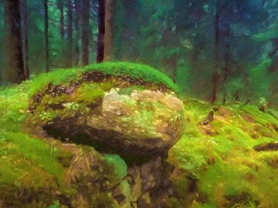 Painting - Saga Woods by Lutz Baar