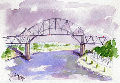 Cape Cod Painting - Sagamore Bridge by James Flynn