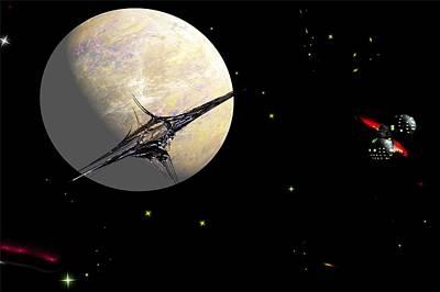 Digital Art - Sagan Station At Betelgeuse  IIi by David Lane