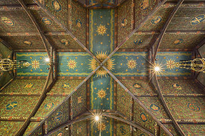 Sage Chapel Ceiling #1 - Cornell University Art Print