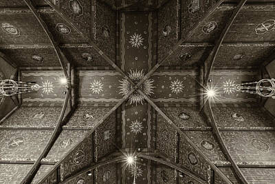 Historic Architecture Photograph - Sage Chapel Ceiling #2 - Cornell University by Stephen Stookey