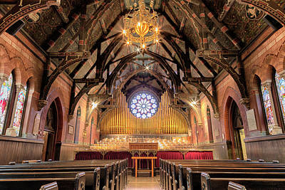 Art Glass Mosaic Photograph - Sage Chapel Organ - Opus 1009 by Stephen Stookey