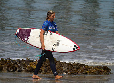 Photograph - Sage Erickson After A Surf Session by Waterdancer