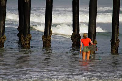 Photograph - Sage Erickson At Oceanside Pier. by Waterdancer
