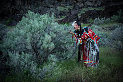 Sage Woman Art Print by Christian Heeb