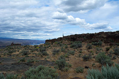 Roaring Red - Sagebrush and Clouds by Linda Kerkau