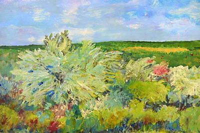 Country Road Painting - Sagebrush by Robert Price