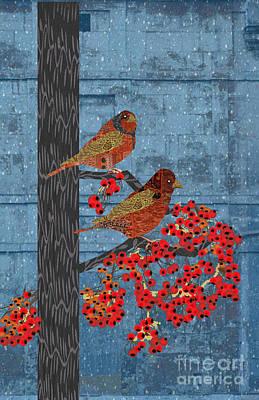 Impressionism Digital Art - Sagebrush Sparrow Long by Kim Prowse