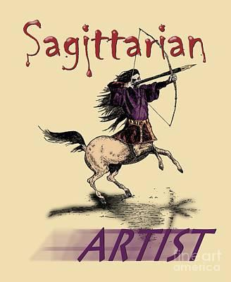 Drawing - Sagittarian Artist by Joseph Juvenal