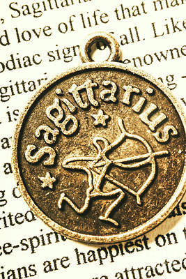 Necklace Photograph - Sagittarius Astrology Design by Jorgo Photography - Wall Art Gallery