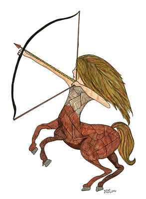 Drawing - Sagittarius by Barbara McConoughey