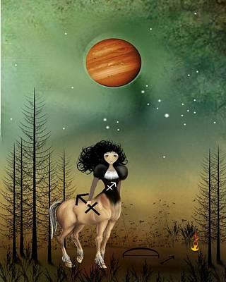 Centaur Digital Art - Sagittarius by Charlene Zatloukal