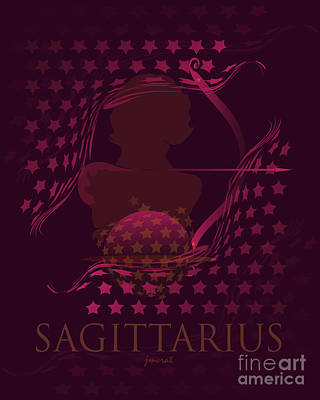 Christina Digital Art - Sagittarius Horoscope M2 by Johannes Murat