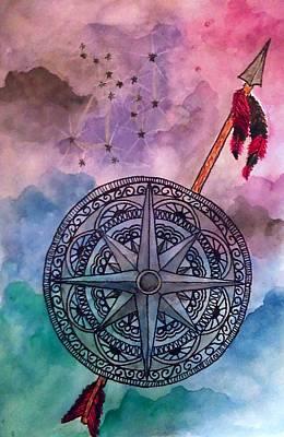 Constellations Painting - Sagittarius by Jennie Hallbrown