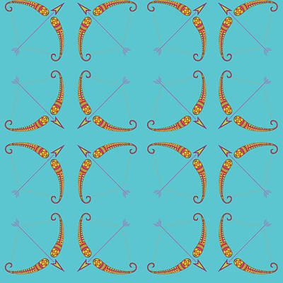 Sagittarius Zodiac Sign Pattern Original by Prathamesh Prabhu