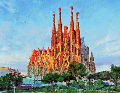 Painting - Sagrada Familia - 01 by Andrea Mazzocchetti