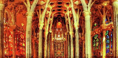 Painting - Sagrada Familia - 02 by Andrea Mazzocchetti
